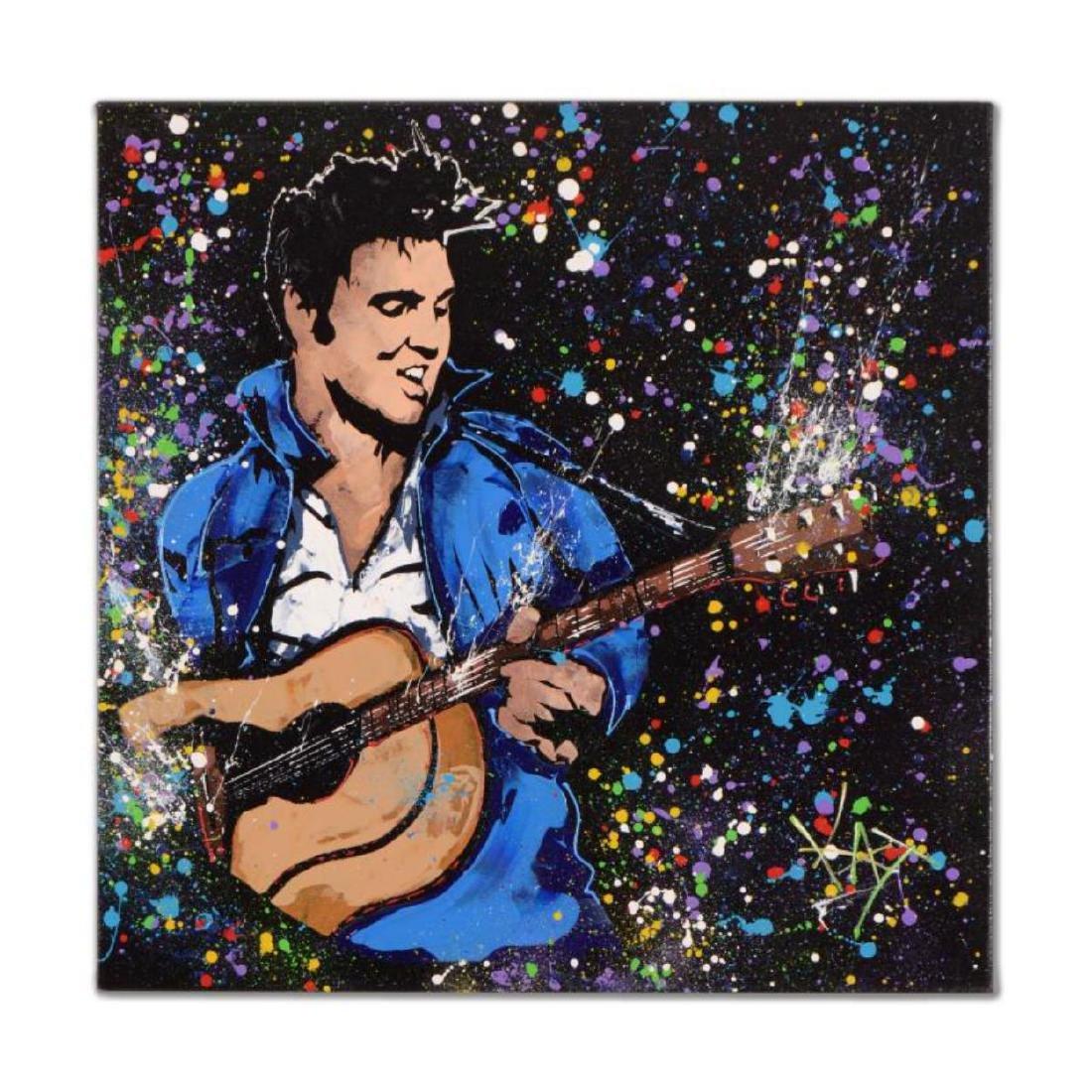 "KAT - ""Elvis"" Original Acrylic Painting on Gallery"