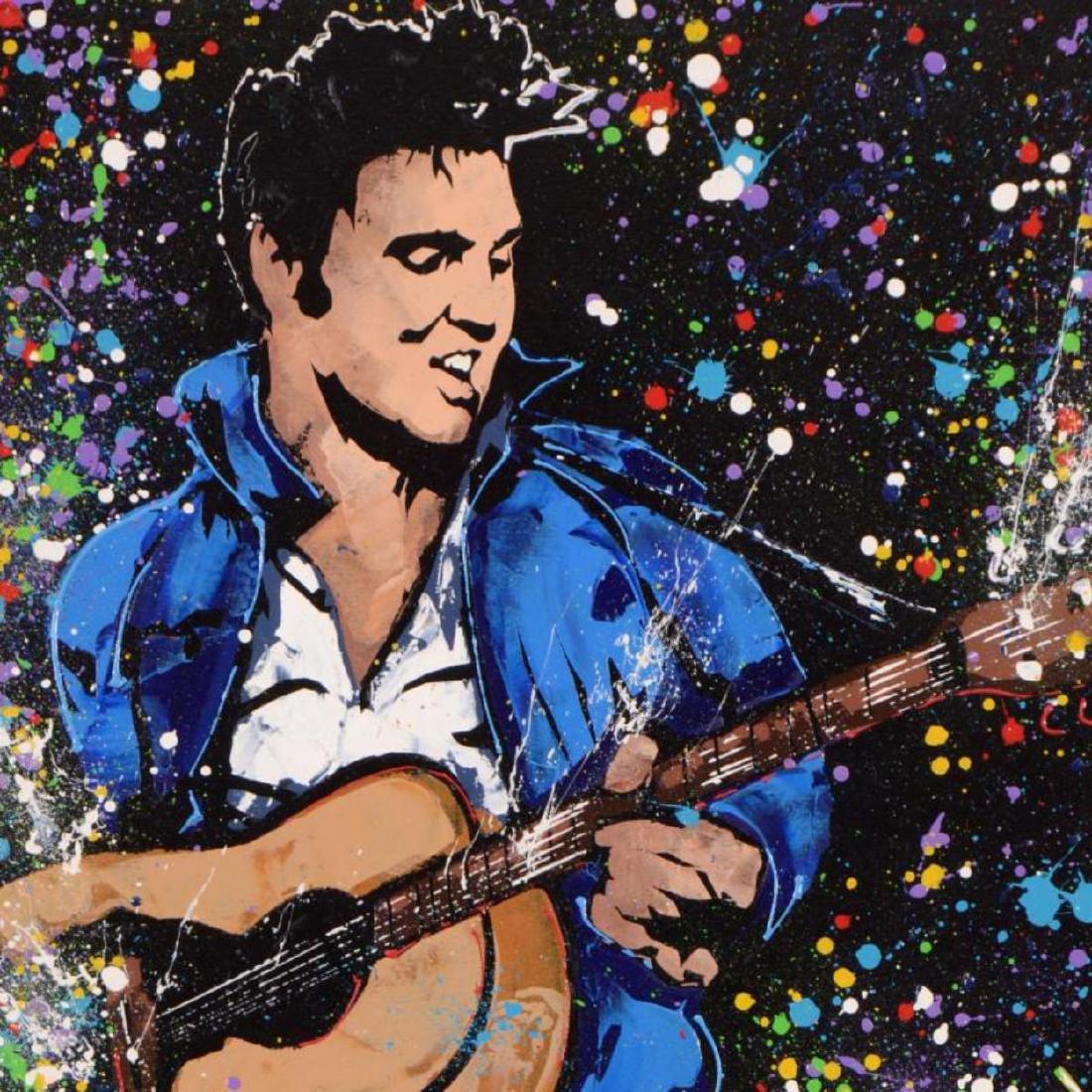 "KAT - ""Elvis"" Original Acrylic Painting on Gallery - 2"