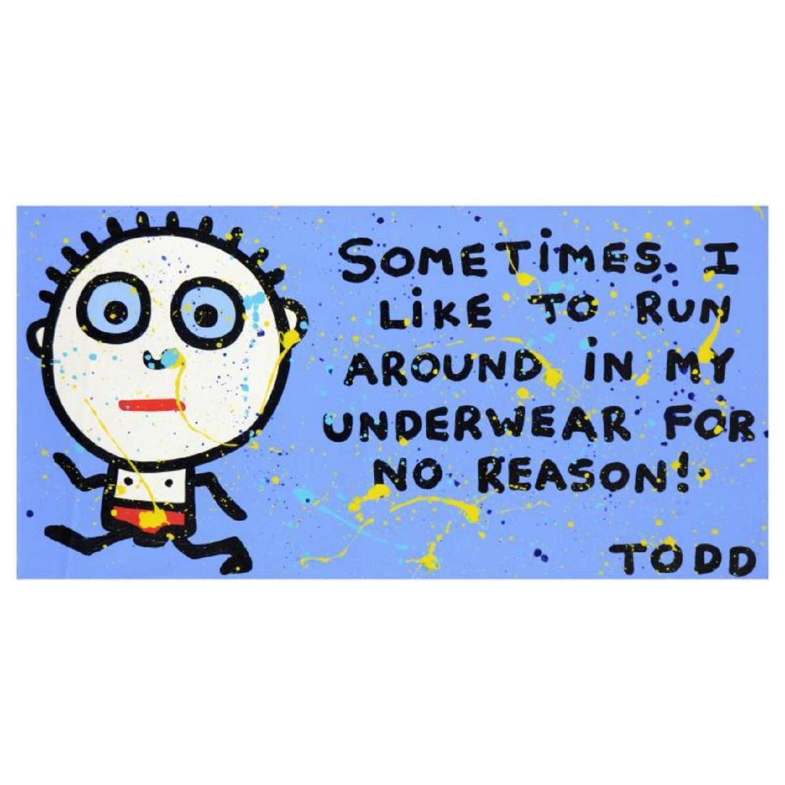 "Todd Goldman - ""Underwear"" Original Acrylic Painting on"