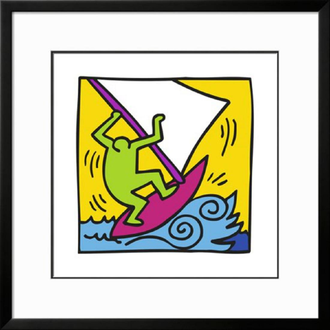 "Keith Haring ""Pop Shop"" Custom Framed"