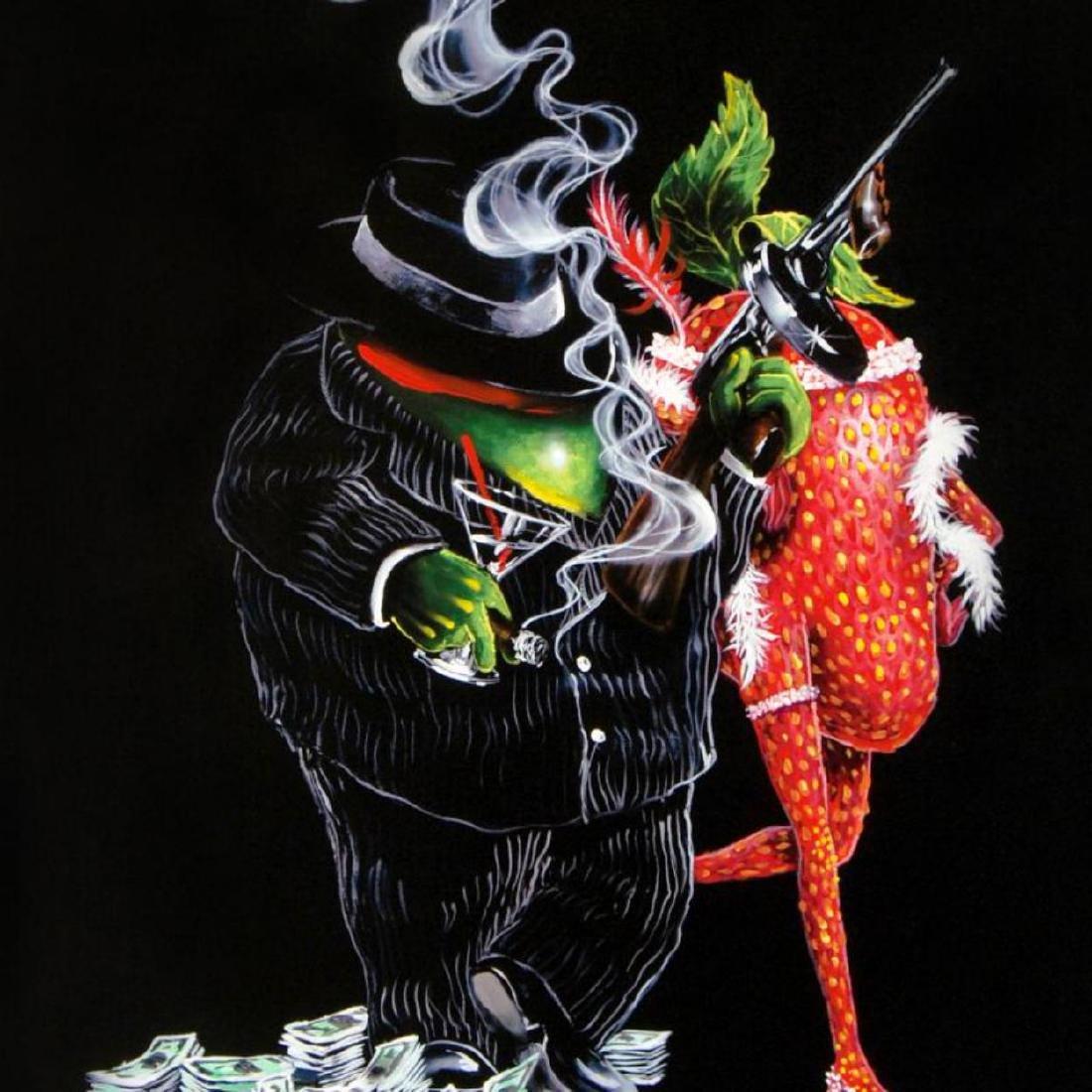 """Gangster Love"" Mural LIMITED EDITION Hand-Embellished - 2"