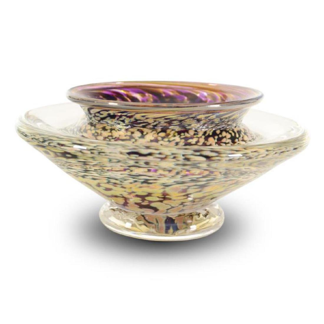 """Small Ikebana Flower Bowl"" Hand-Blown Glass Bowl, Hand"