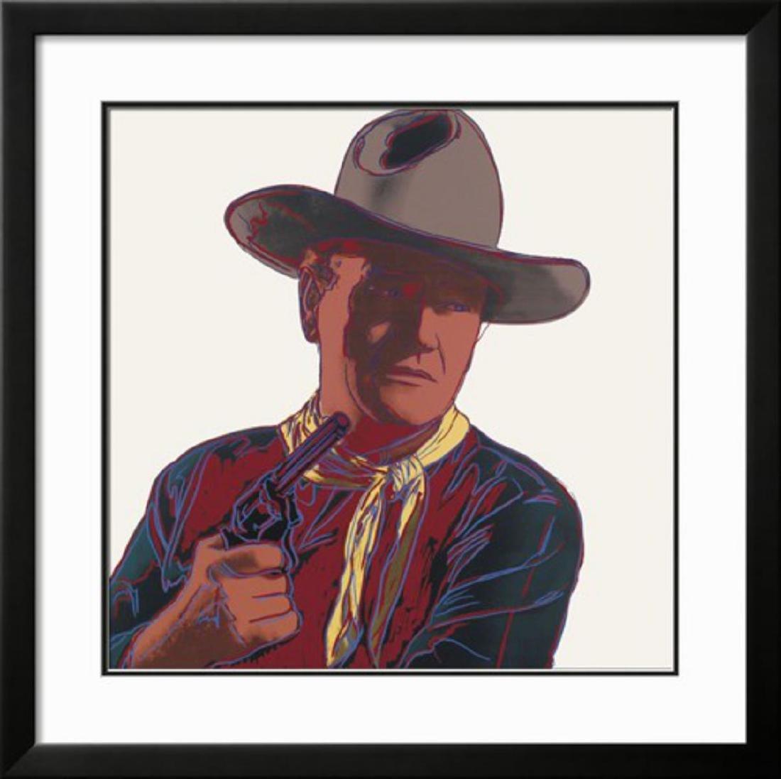"""Andy Warhol """"Cowboys & Indians: John Wayne, 1986"""""""