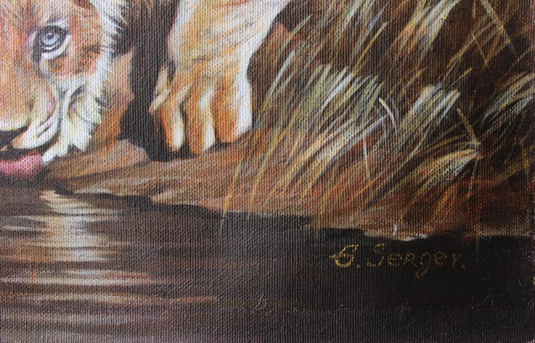 Sergey Goncharenko Original Oil on Canvas The Lion's - 2