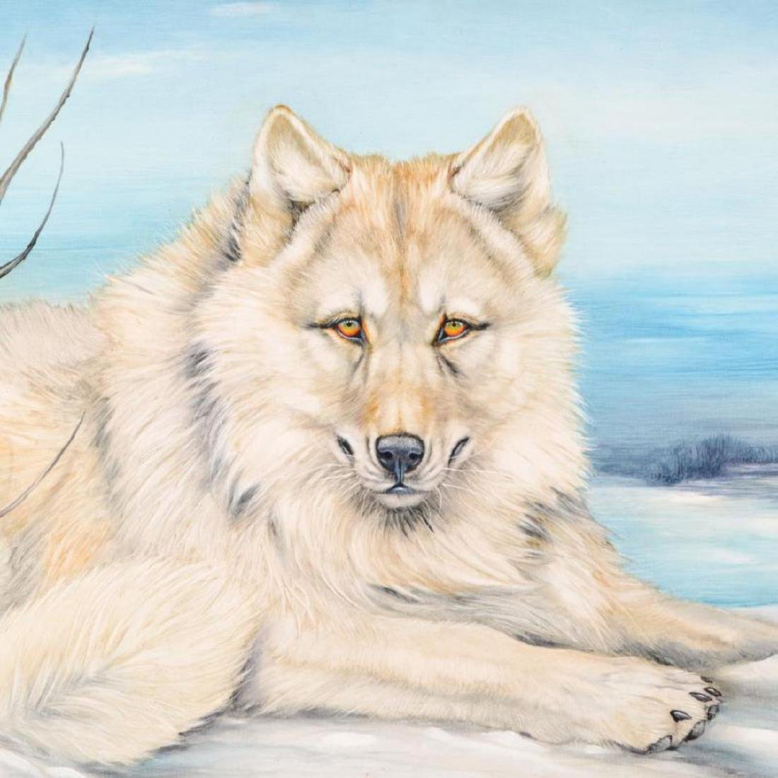 "Martin Katon - ""White Wolf Winter"" Original Oil - 2"