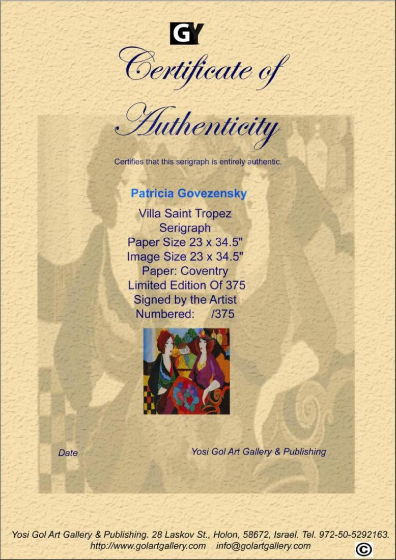 Patricia Govezensky Villa Saint Tropez XL Silk Screen - 2