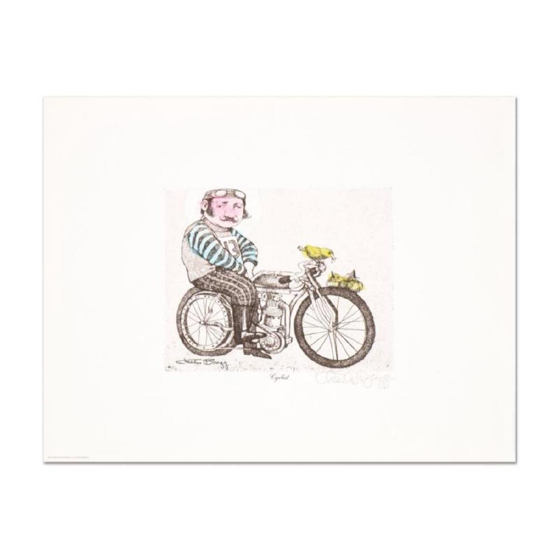 """Charles Bragg - """"Cyclist"""" One-of-a-Kind Hand"""