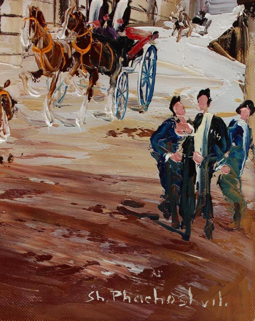 Shalva Phachoshvili- Carriages | Original oil on canvas - 2