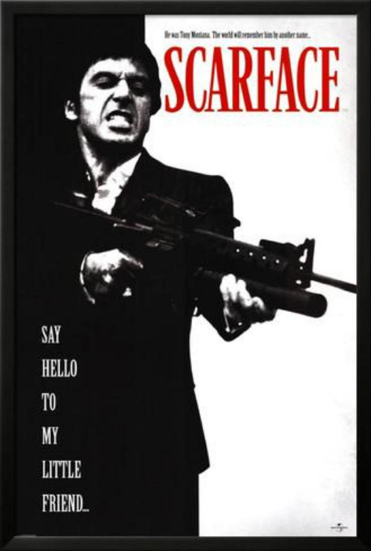 """Scarface"" Custom Framed Movie Poster"