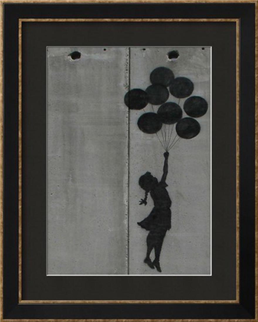 """Banksy """"Balloon girl"""" Custom Framed"""