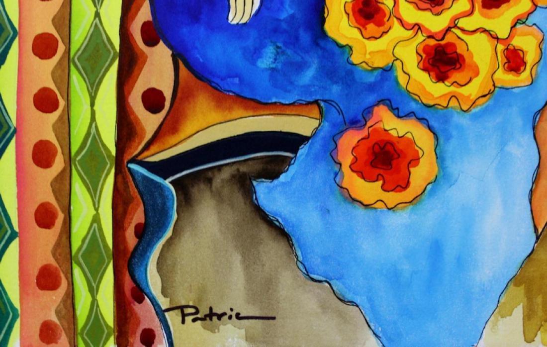 Patricia Govezensky Original Watercolor with - 2