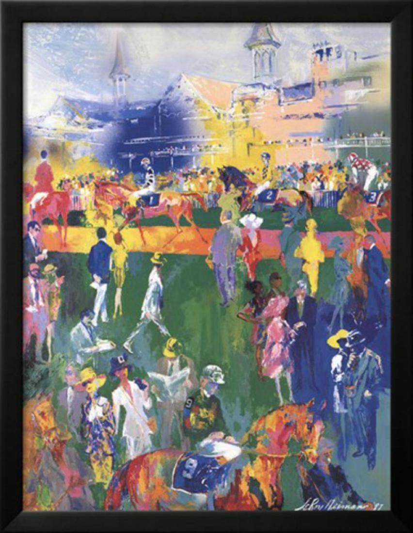 "LeRoy Neiman ""Derby Day Paddock- 123rd Kentucky Derby"""
