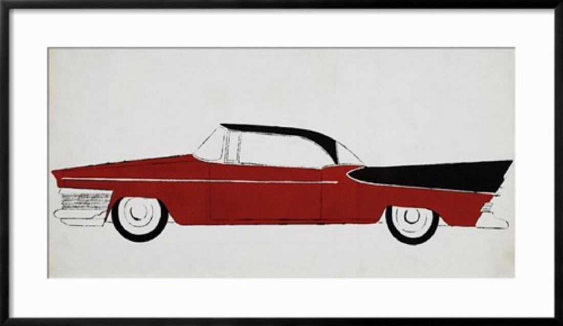 """Andy Warhol """"Car, c.1959"""" Custom Framed"""