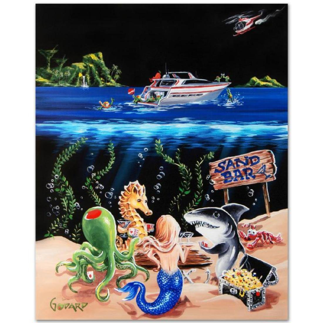 """""""Sand Bar 1"""" LIMITED EDITION Hand-Embellished Giclee on"""