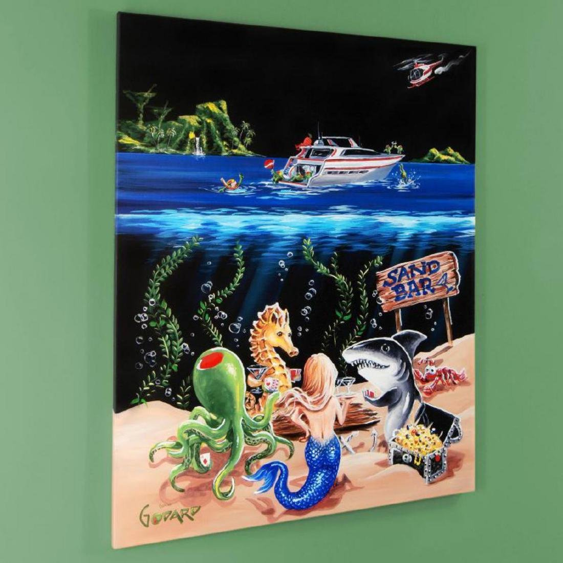 """""""Sand Bar 1"""" LIMITED EDITION Hand-Embellished Giclee on - 3"""