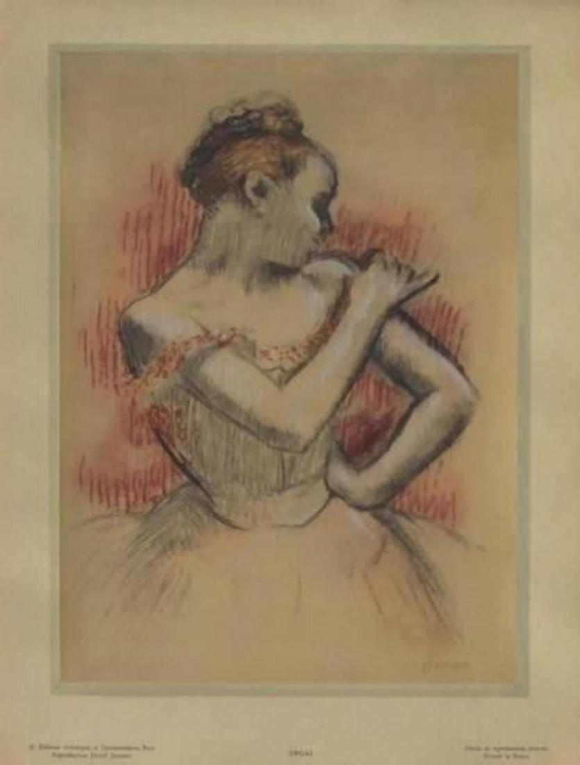 "Edgar Degas ""Jeune Danseuse"" Rare Stencil Print"
