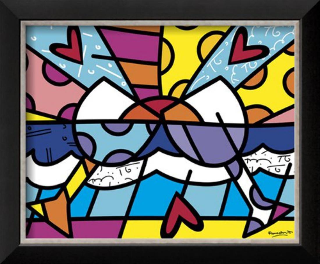 """Romero Britto """"Cheers"""" Custom Framed"""