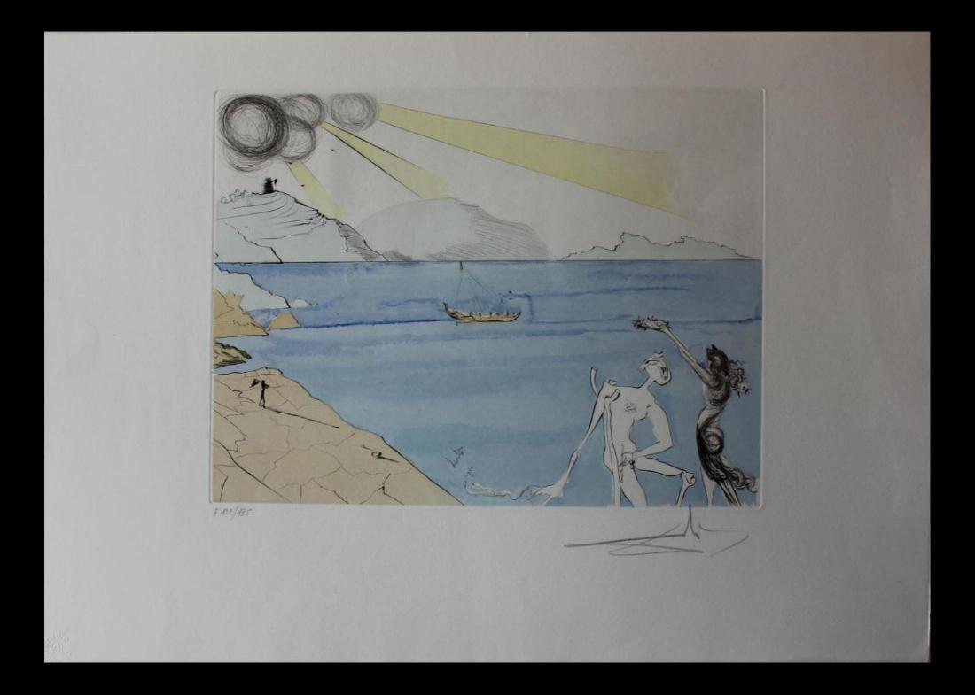 Salvador Dali Original Etchings Les Lauriers du Bonheur