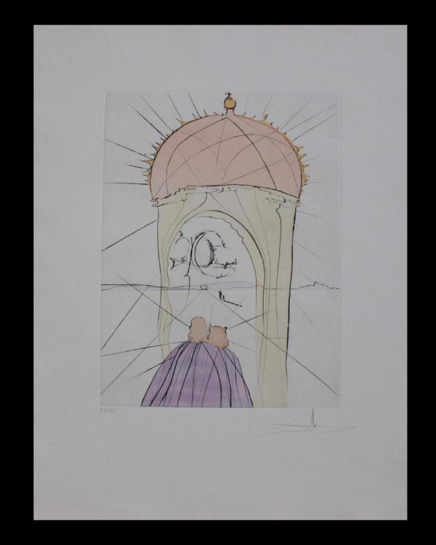 Salvador Dali Orig. Etching The Museum of Genius and