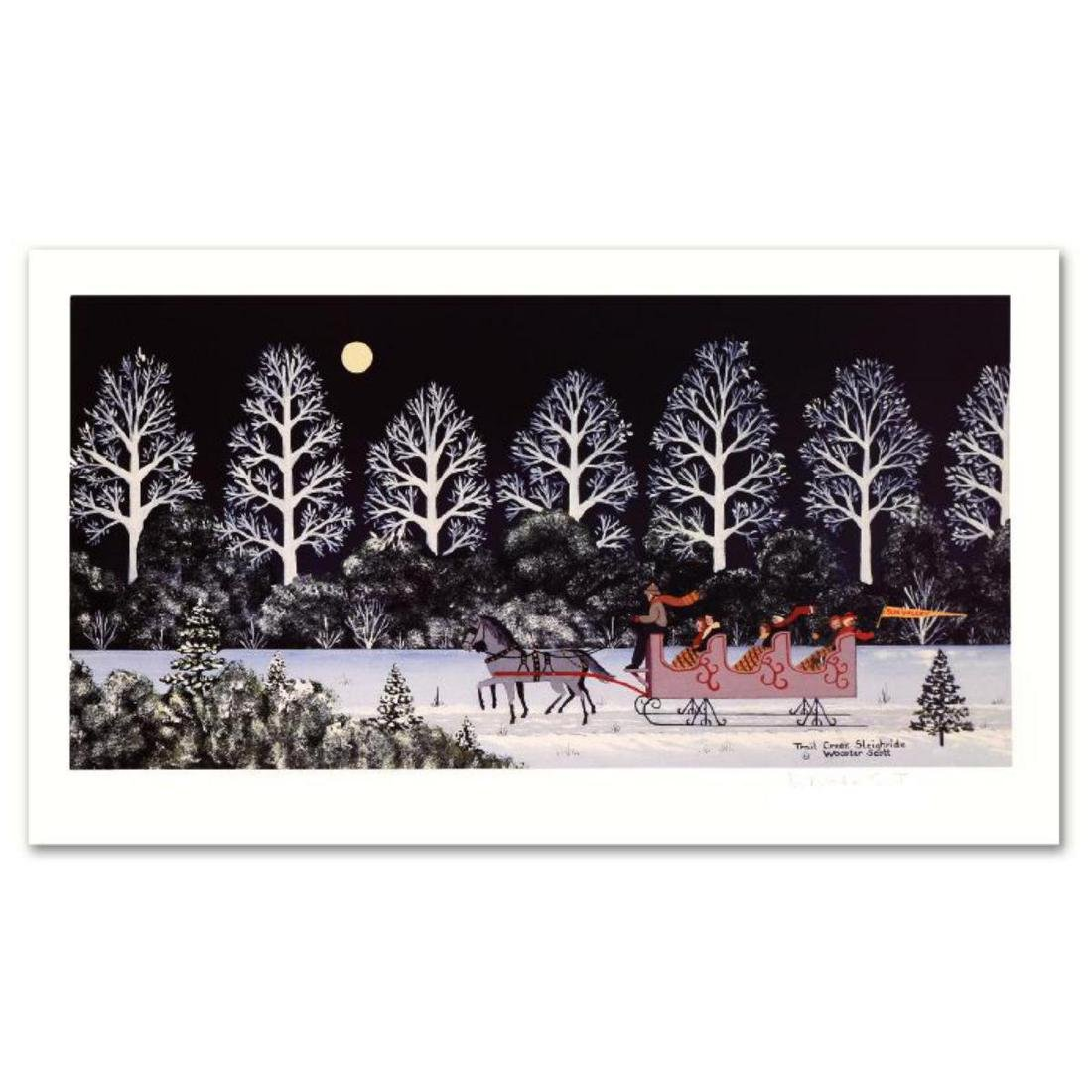 """Trail Creek Sleigh Ride"" Limited Edition Lithograph by"