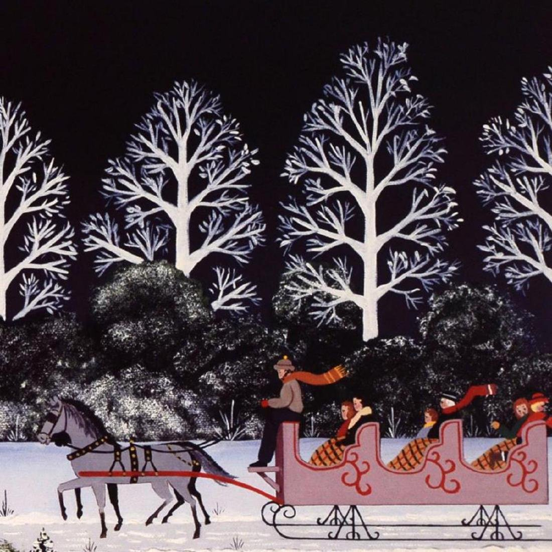 """Trail Creek Sleigh Ride"" Limited Edition Lithograph by - 2"