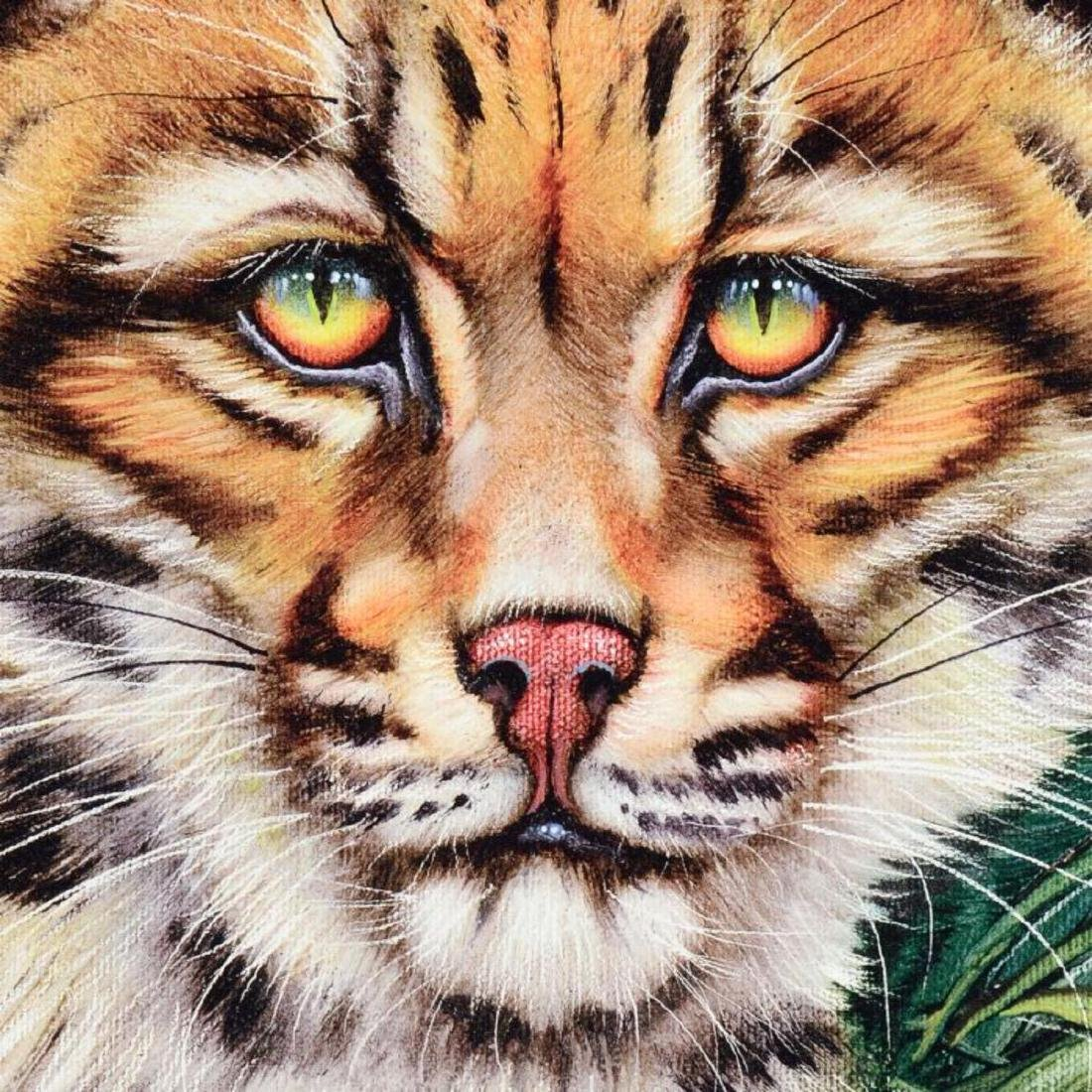 """Ocelot Eyes"" Limited Edition Giclee on Canvas by - 2"
