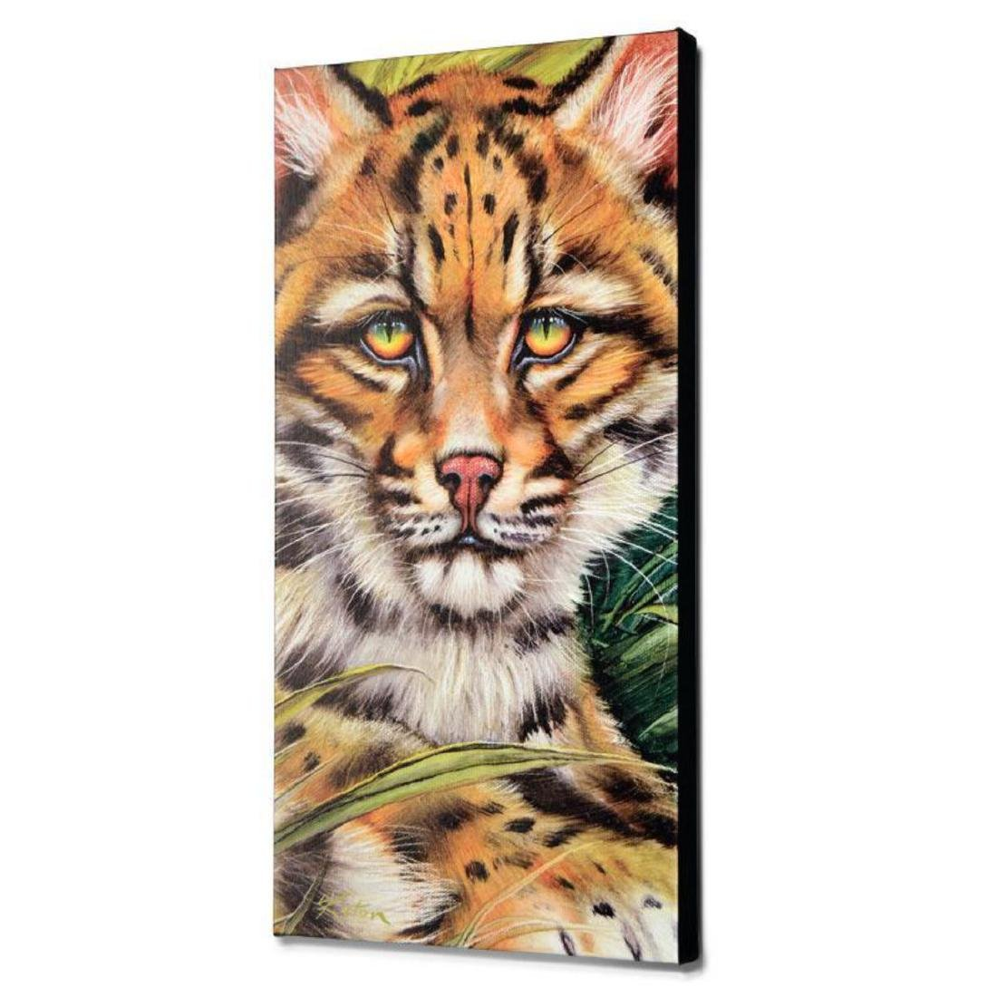 """Ocelot Eyes"" Limited Edition Giclee on Canvas by - 3"