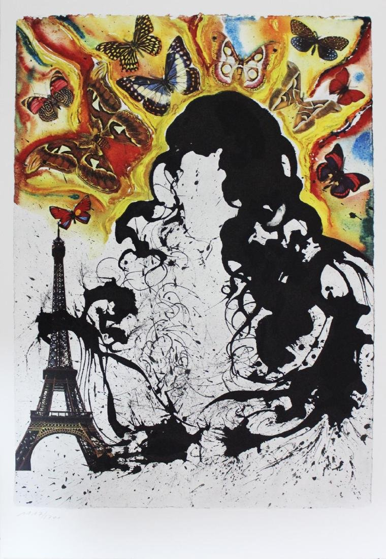 "Salvador Dali- lithography ""Paris"""
