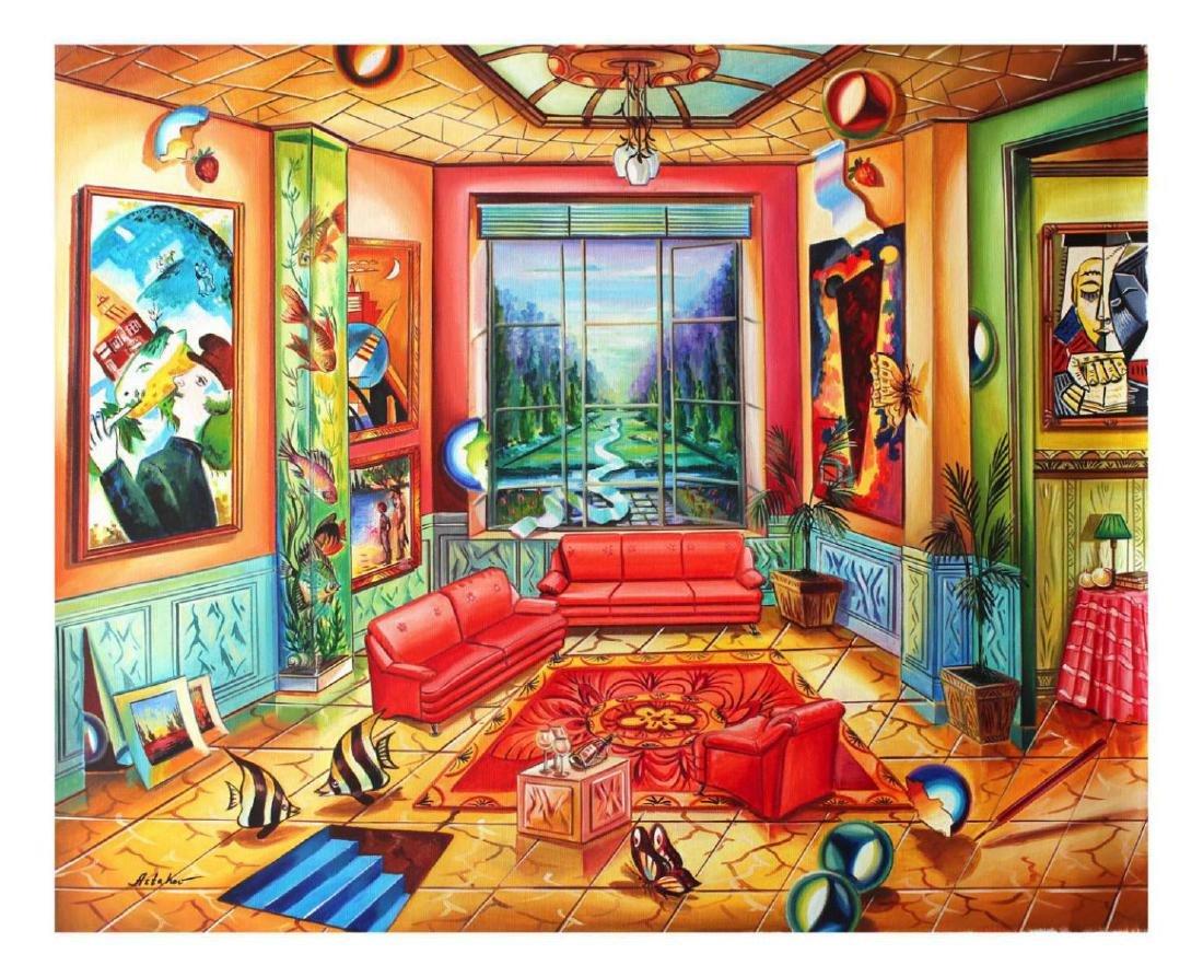 """Alexander Astahov """"Bright Room"""" Original Oil on Canvas"""