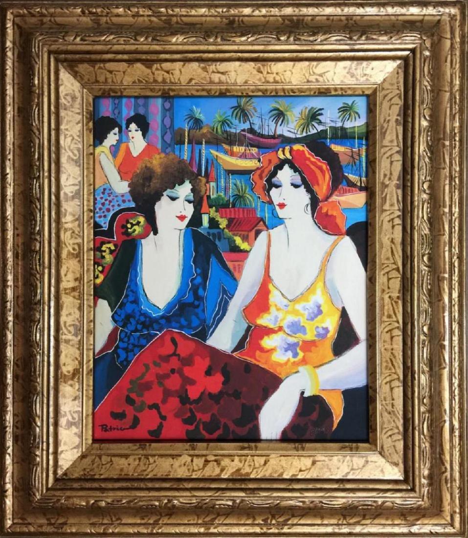 Patricia Govezensky Framed HS/N Serigraph on Canvas -