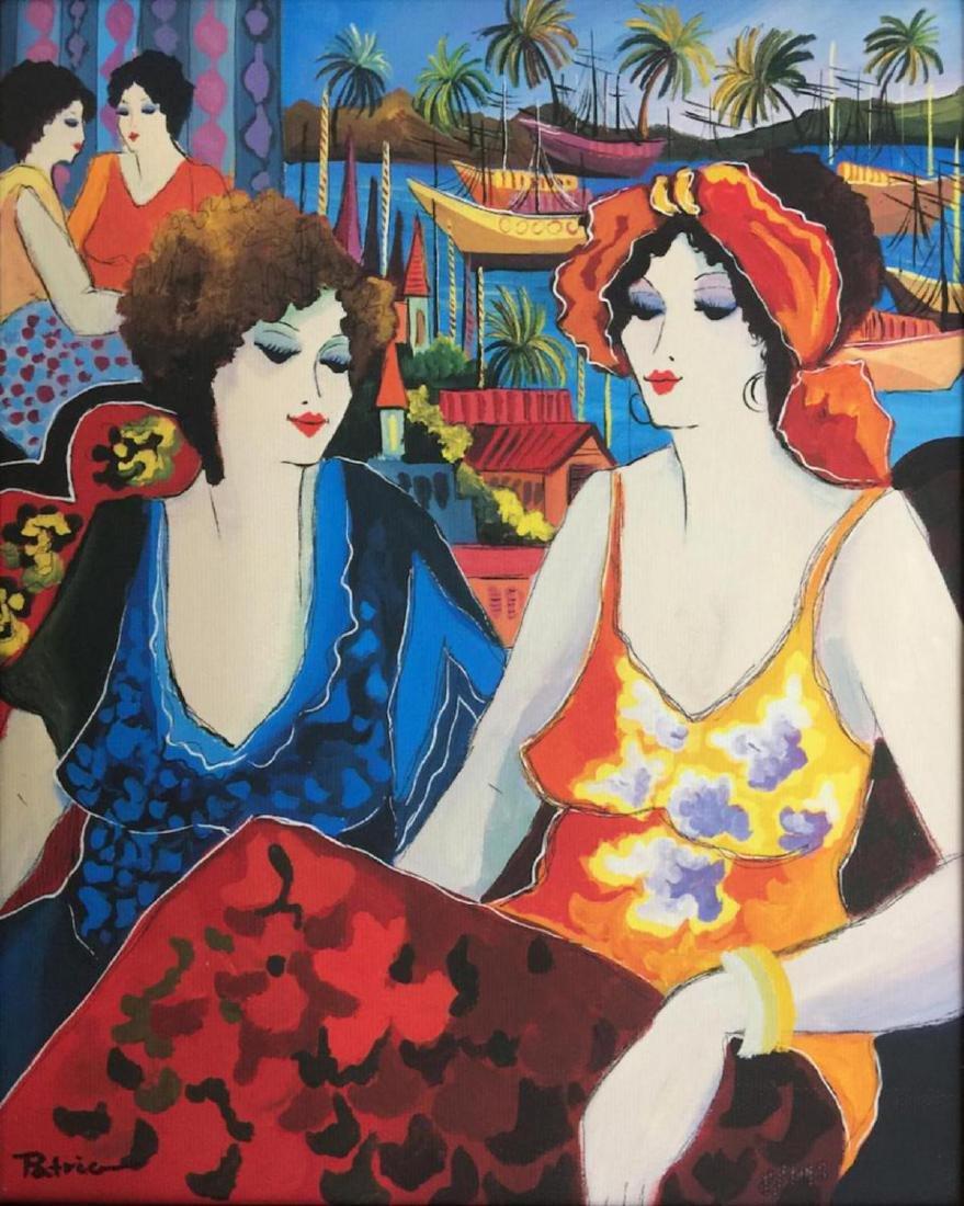 Patricia Govezensky Framed HS/N Serigraph on Canvas - - 2