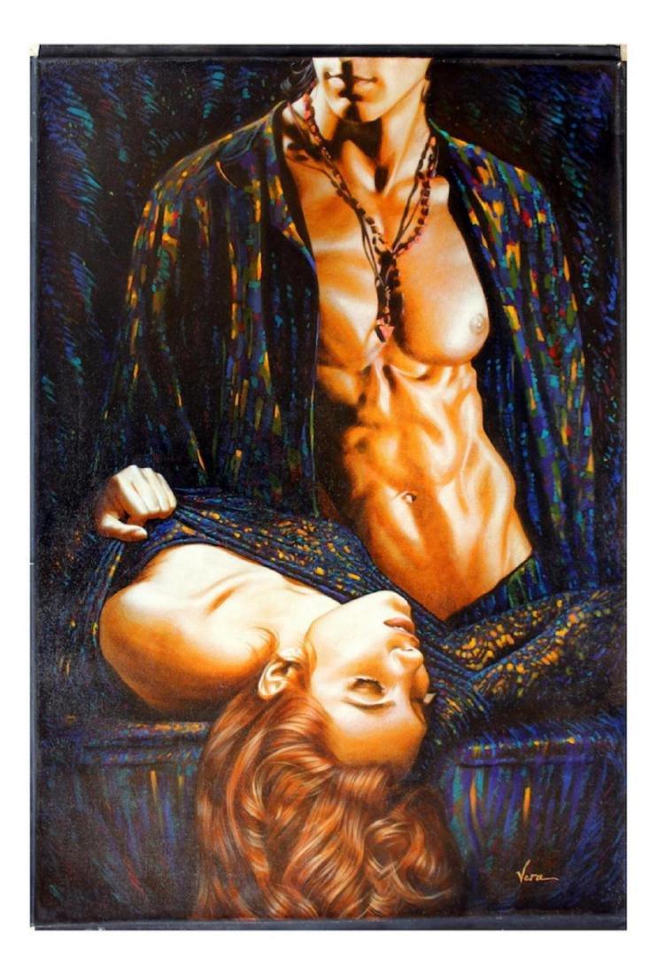 "Vera V. Goncharenko Original Oil on Canvas ""Romantic"