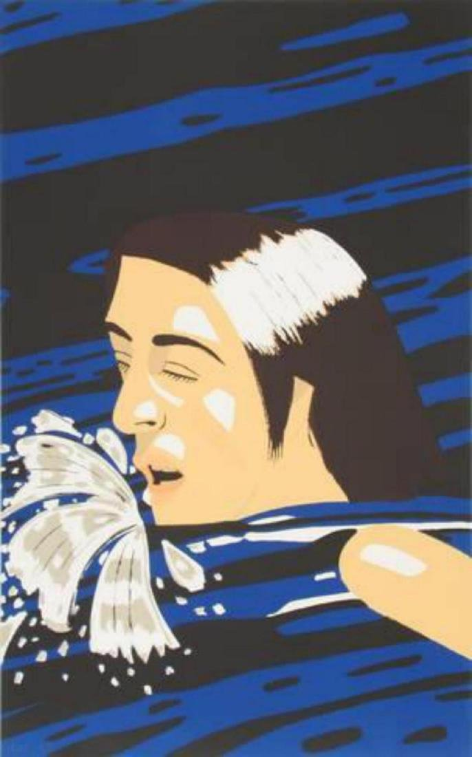 "Alex Katz ""The Swimmer"" Screenprint Signed ny the"