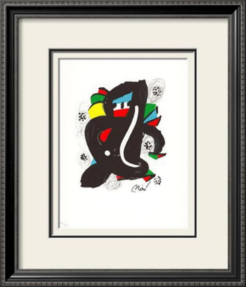 "Joan Miró ""La Melodie Acide II"" Original Custom Framed"