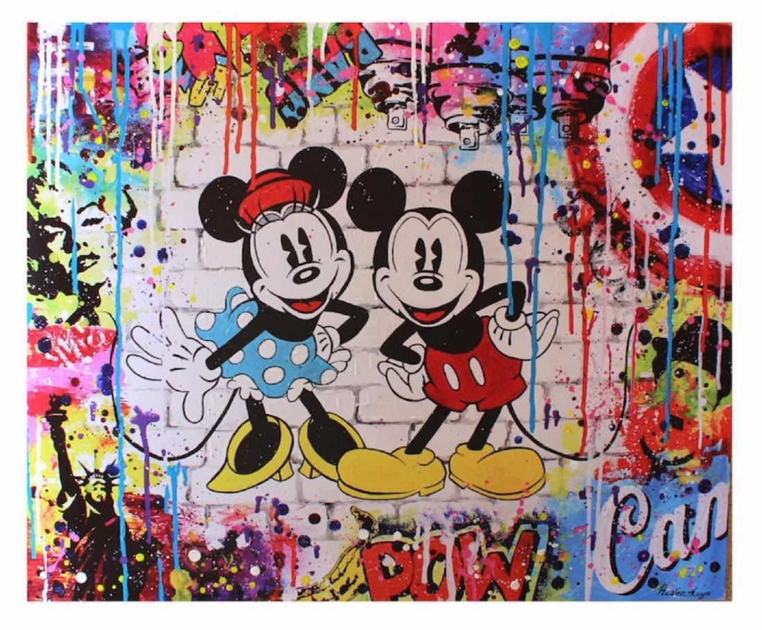 Nastya Rovenskaya- Mickey and Minnie | Hand Embelished