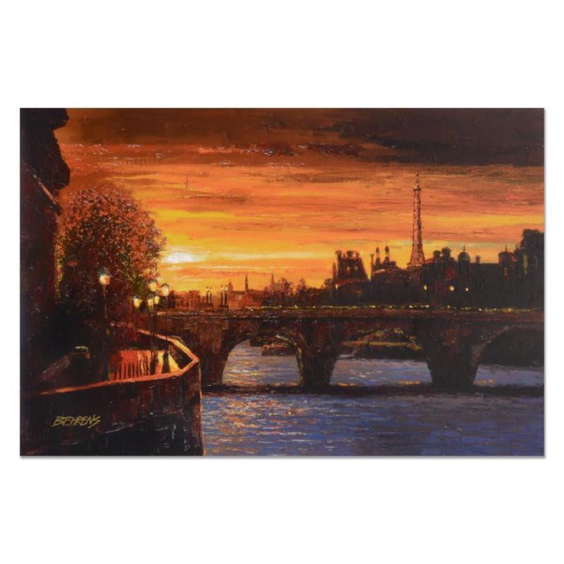 """Howard Behrens (1933-2014) - """"Twilight on the Seine II"""""""