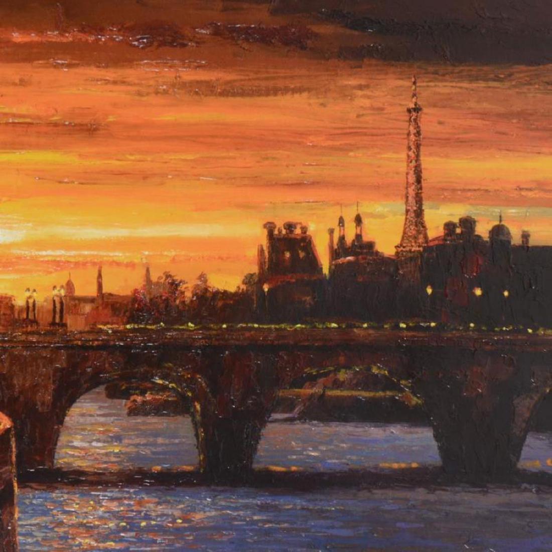 """Howard Behrens (1933-2014) - """"Twilight on the Seine II"""" - 2"""