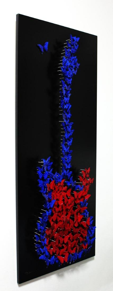 "Patricia Govezensky- Original 3D Metal Art ""Guitar"" - 2"