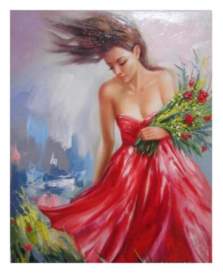 "Taras Sidan- Original Oil on Canvas ""The Florist"""