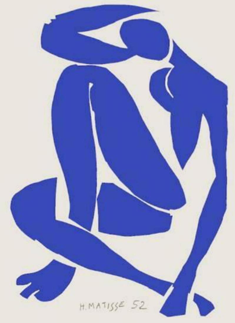 "Henri Matisse ""Verve - Nu bleu XI"" Original Lithograph"