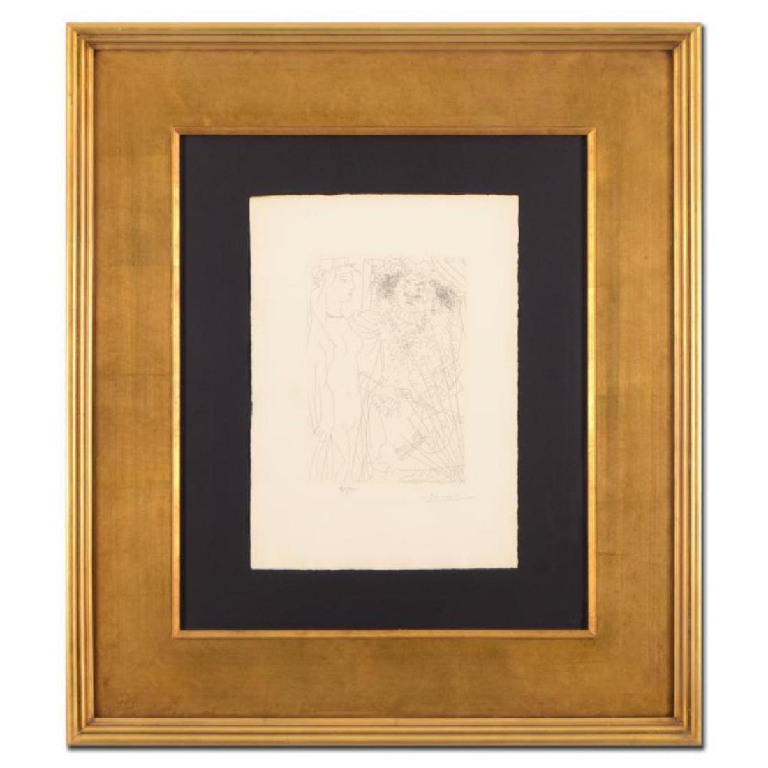 """Picasso (1881-1973) - """"Rembrandt et Femme au Voile"""