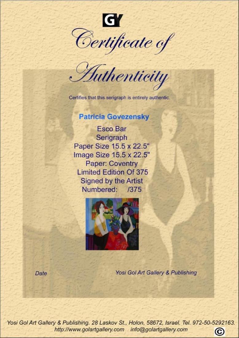 Patricia Govezensky Esco Bar LE HS/N Silk Screen - 3