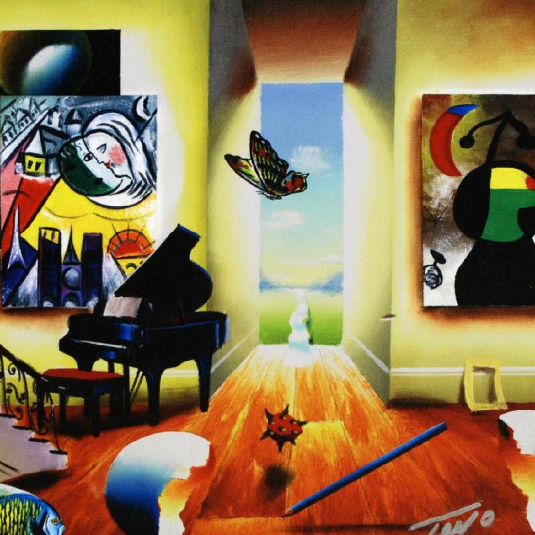 """""""Chagall's Recital"""" Limited Edition Giclee on Canvas by - 2"""