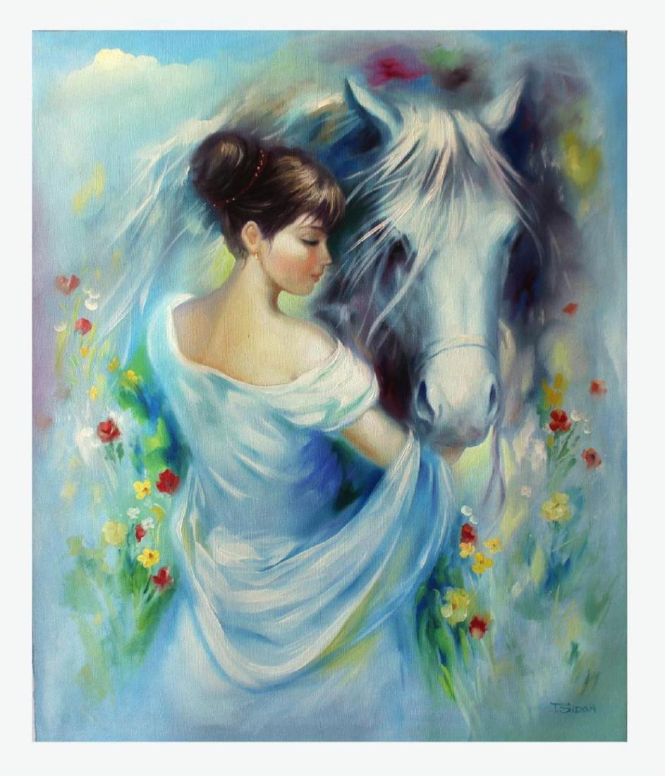 Taras Sidan Original Oil On Canvas- Horse Whisperer