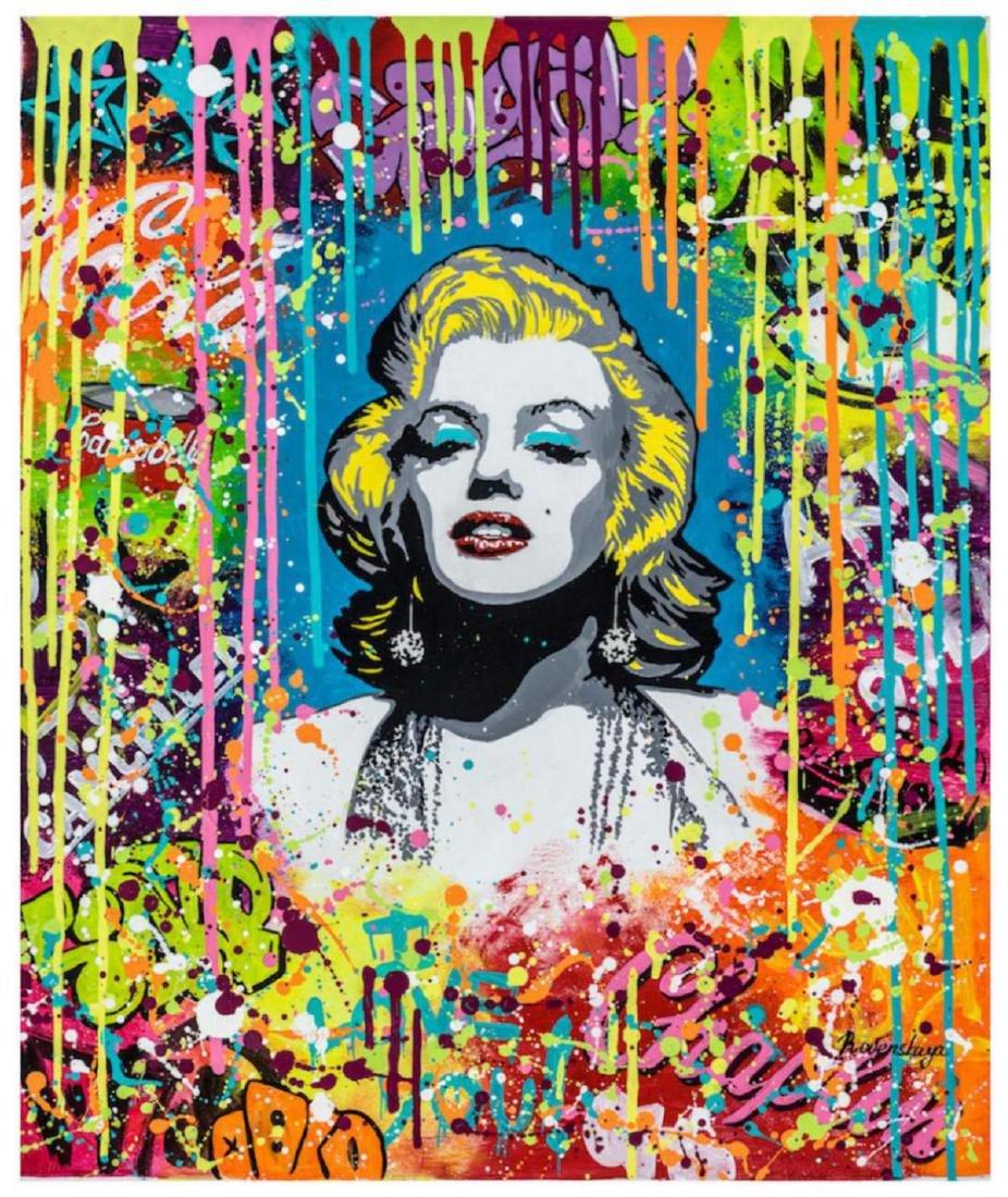 Nastya Rovenskaya Marilyn Monroe HS/N Stretched Giclee