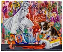 Nastya Rovenskaya Mixed Media on Canvas Marilyn Monroe