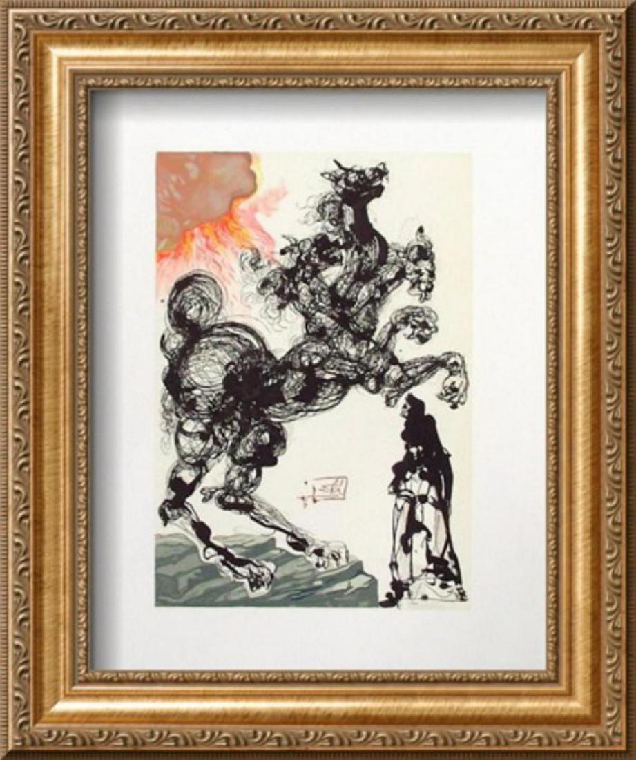 """Salvador Dali """"Divine Comedie, Enfer 06: Cerbère"""""""