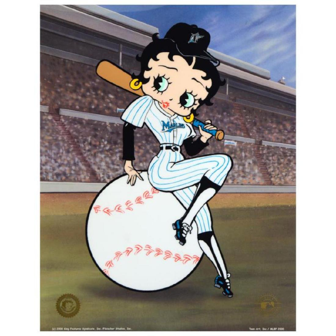 """""""Betty on Deck - Marlins"""" Limited Edition Sericel from"""