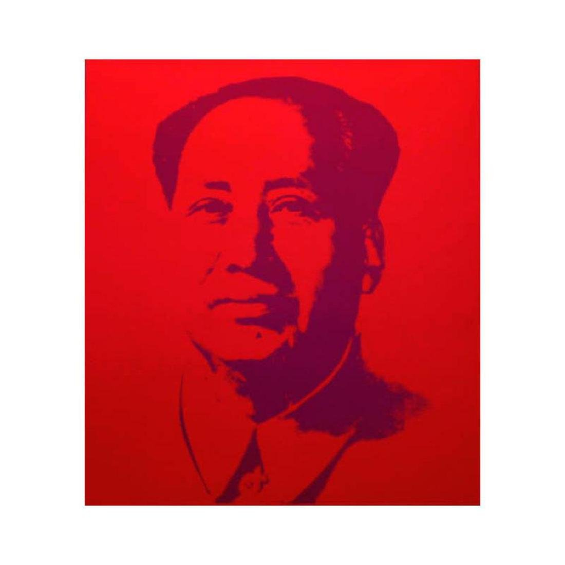 "Andy Warhol ""Mao Red"" Silk Screen Print from Sunday B"