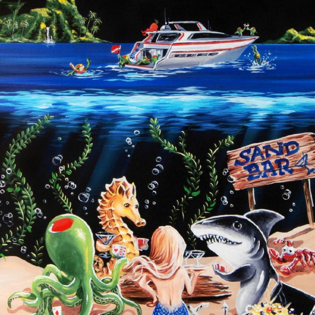 """Sand Bar 1"" Mural LIMITED EDITION Hand-Embellished - 2"